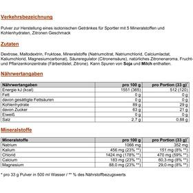 PowerBar Isoactive Sports Nutrition Lemon 600g